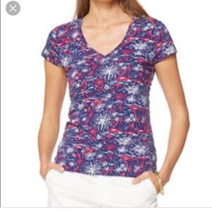 Lilly Pulitzer Sparks Fly Cotton Top Rare